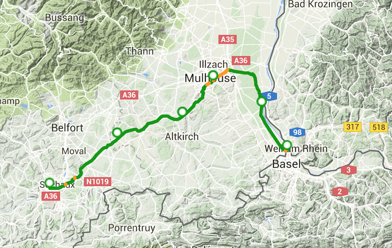 Carte Canal Rhin Rhone